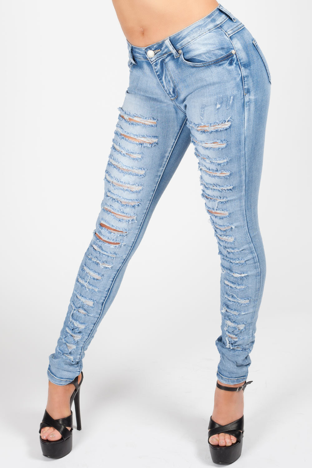 highly coveted range of new york shop Skinny Ripped Jeans Light Wash