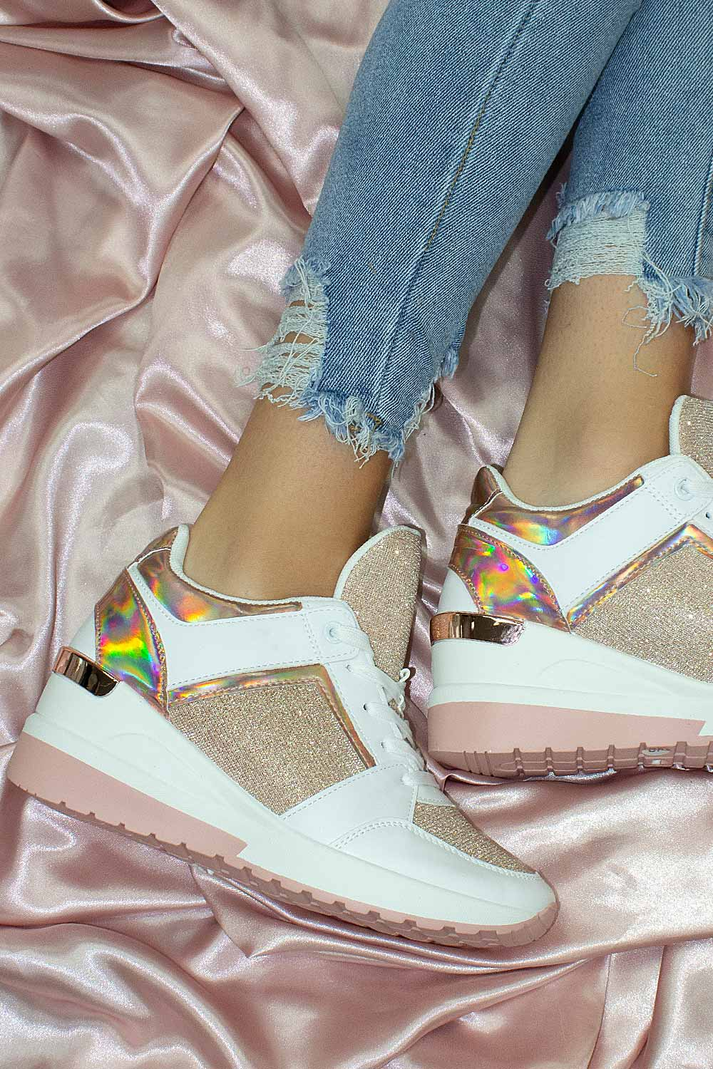 chunky wedge trainers