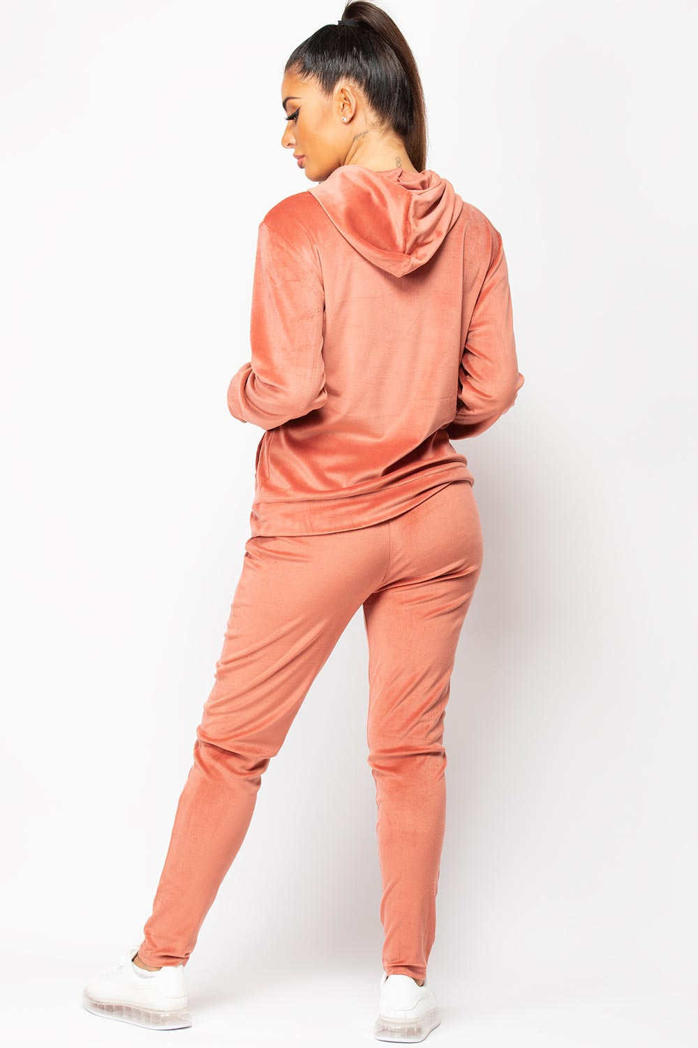 womens hooded velour tracksuit