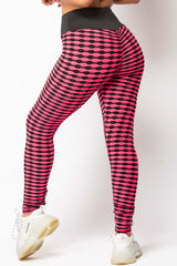 pink ruched bum leggings and crop top lounges set