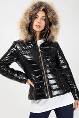 black size 6 puffer coat womens