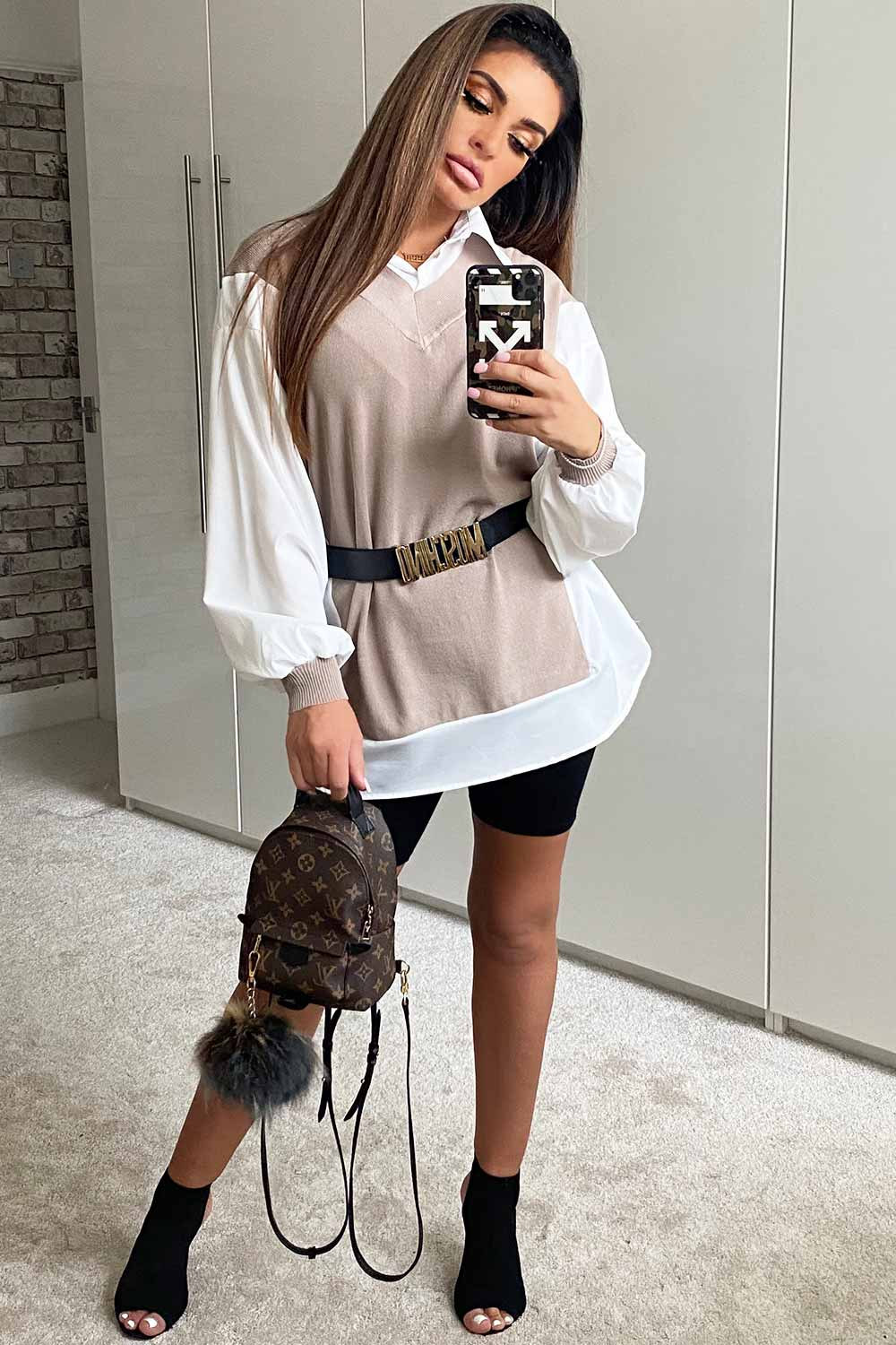 oversized shirt jumper 2 in one