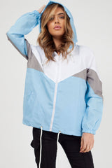 sky blue rain mac womens
