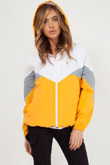 womens mustard windbreaker uk