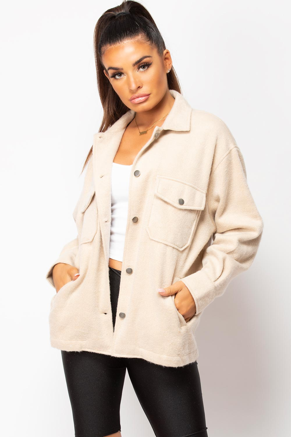 stone shacket womens
