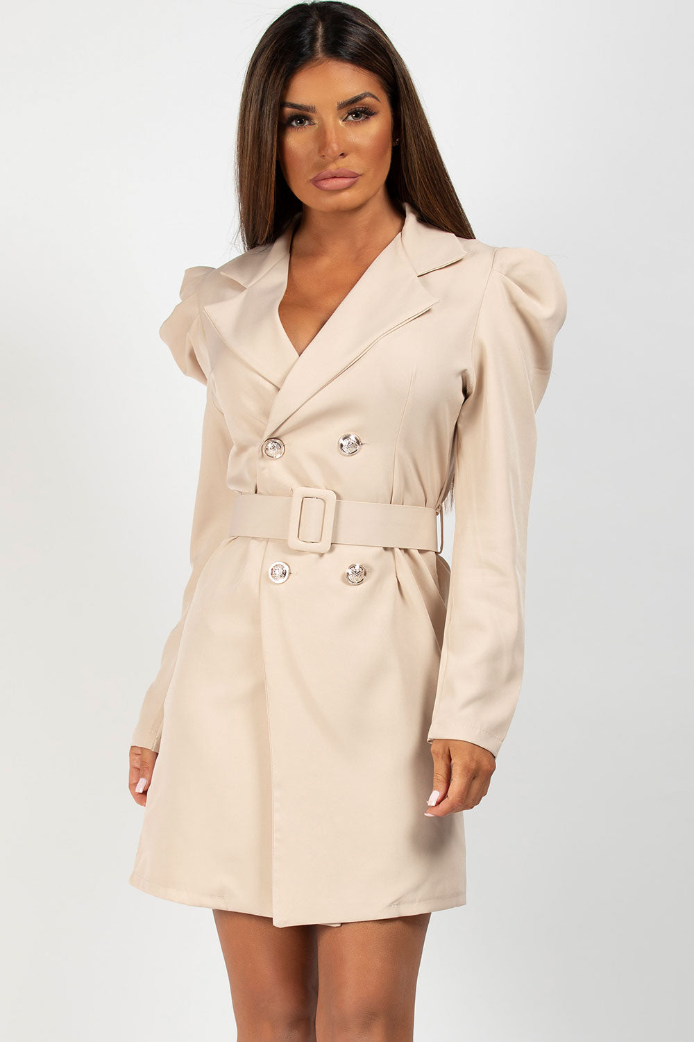 belted blazer dress styledup fashion