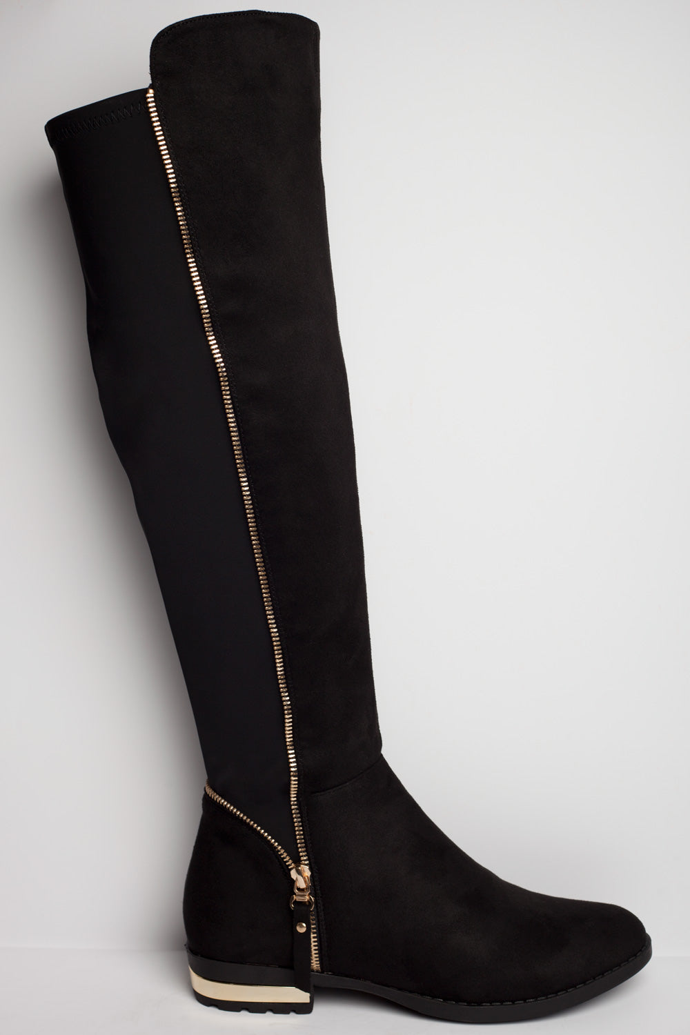 stretch fabric knee high boots uk