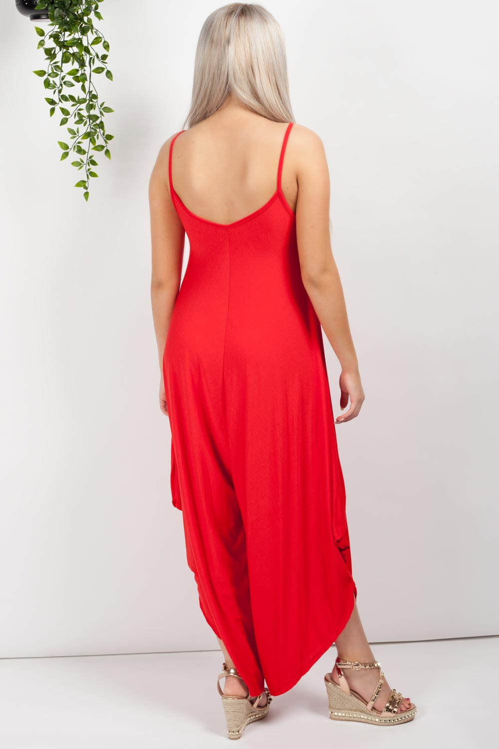womens jumpsuit red