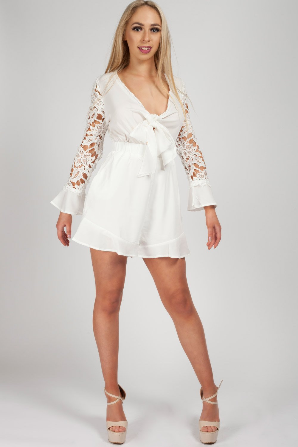 lace playsuit summer fashion
