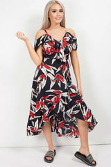 floral wrap midi dress uk
