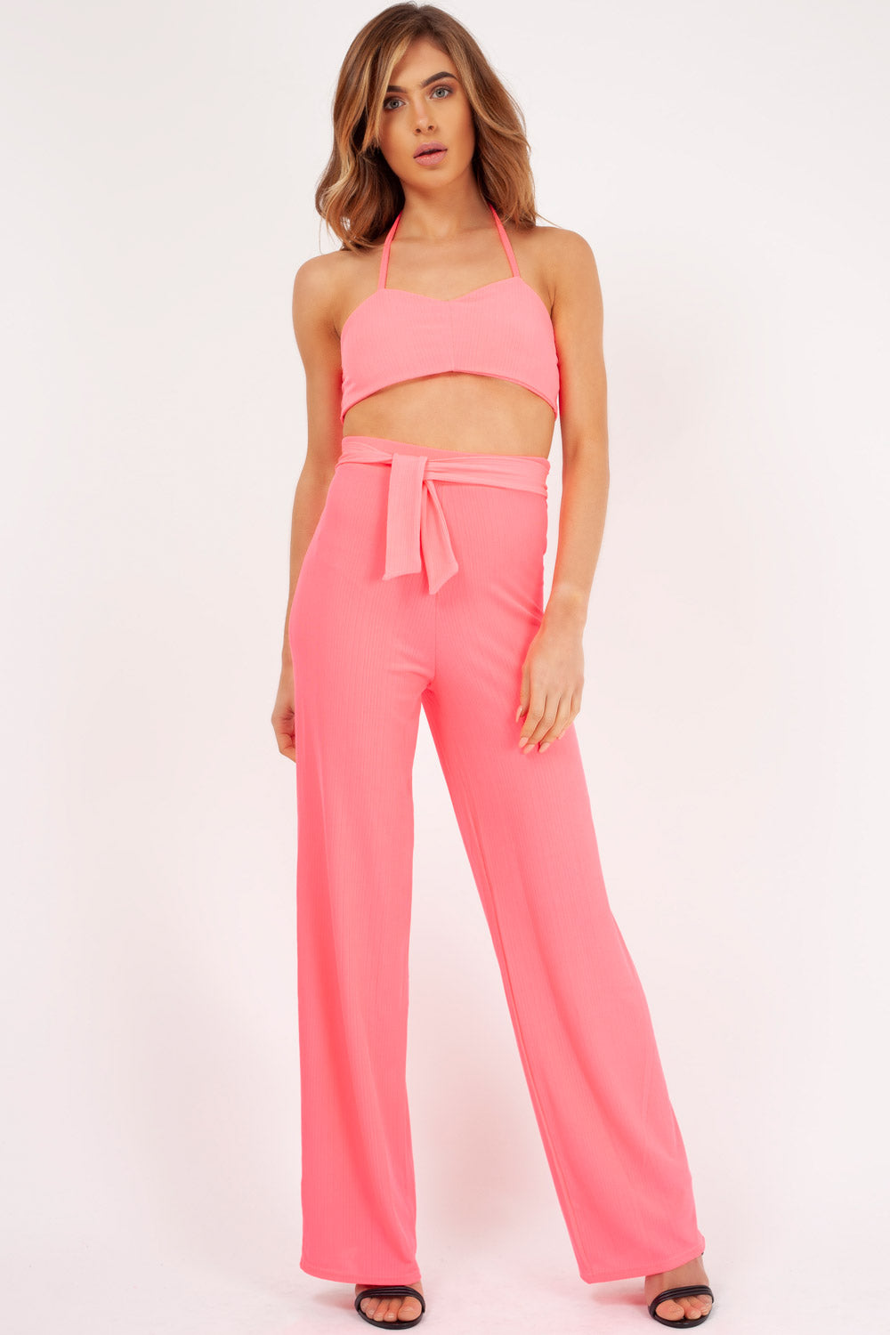 neon pink co ord