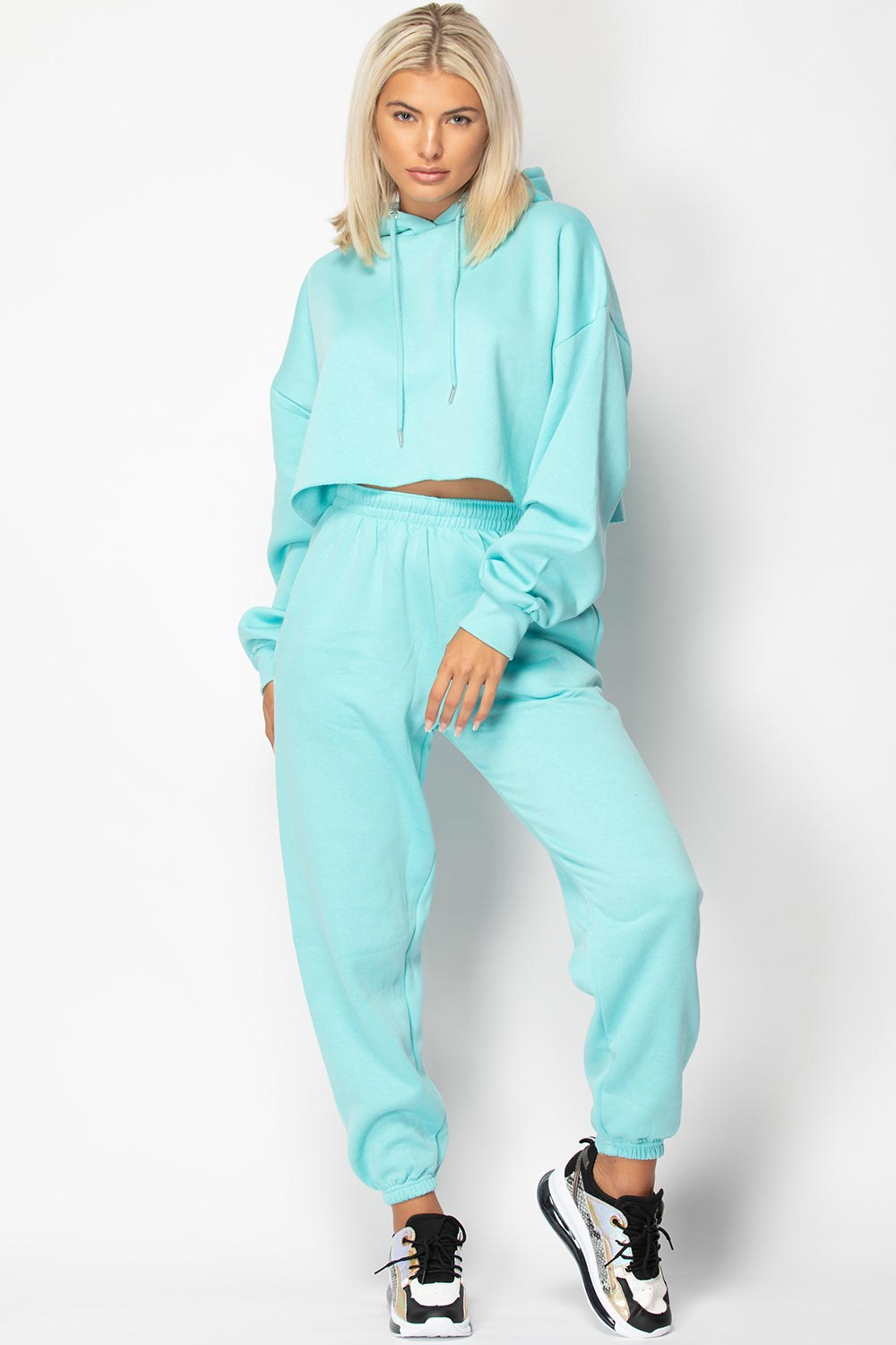 turquoise hoodie and joggers lounge set womens