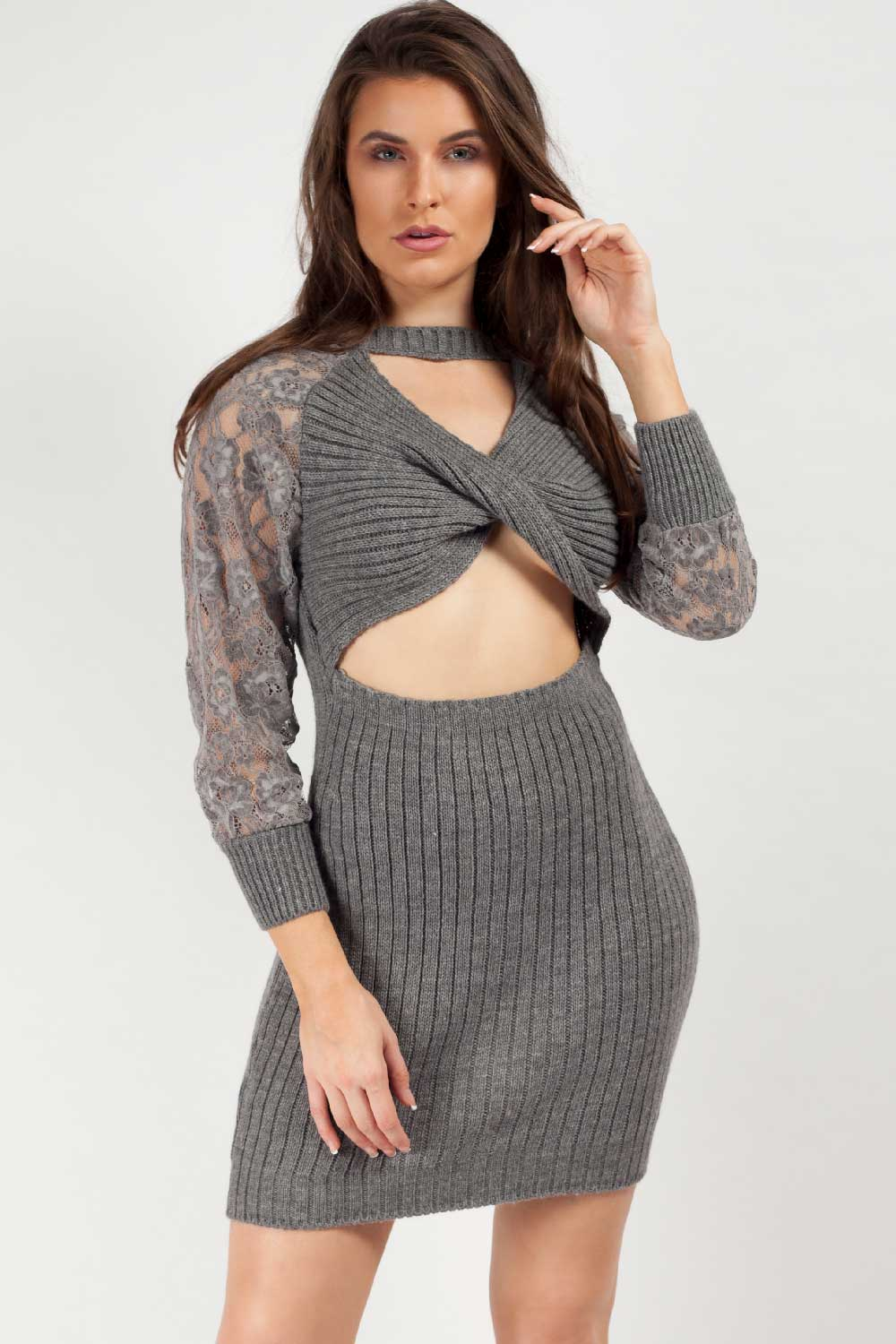 grey jumper dress