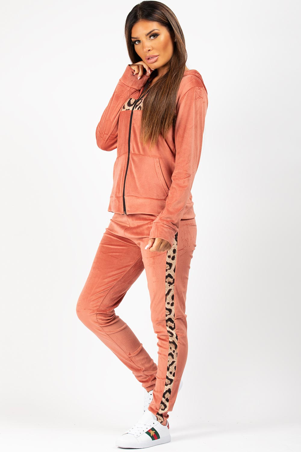 velour tracksuit pink