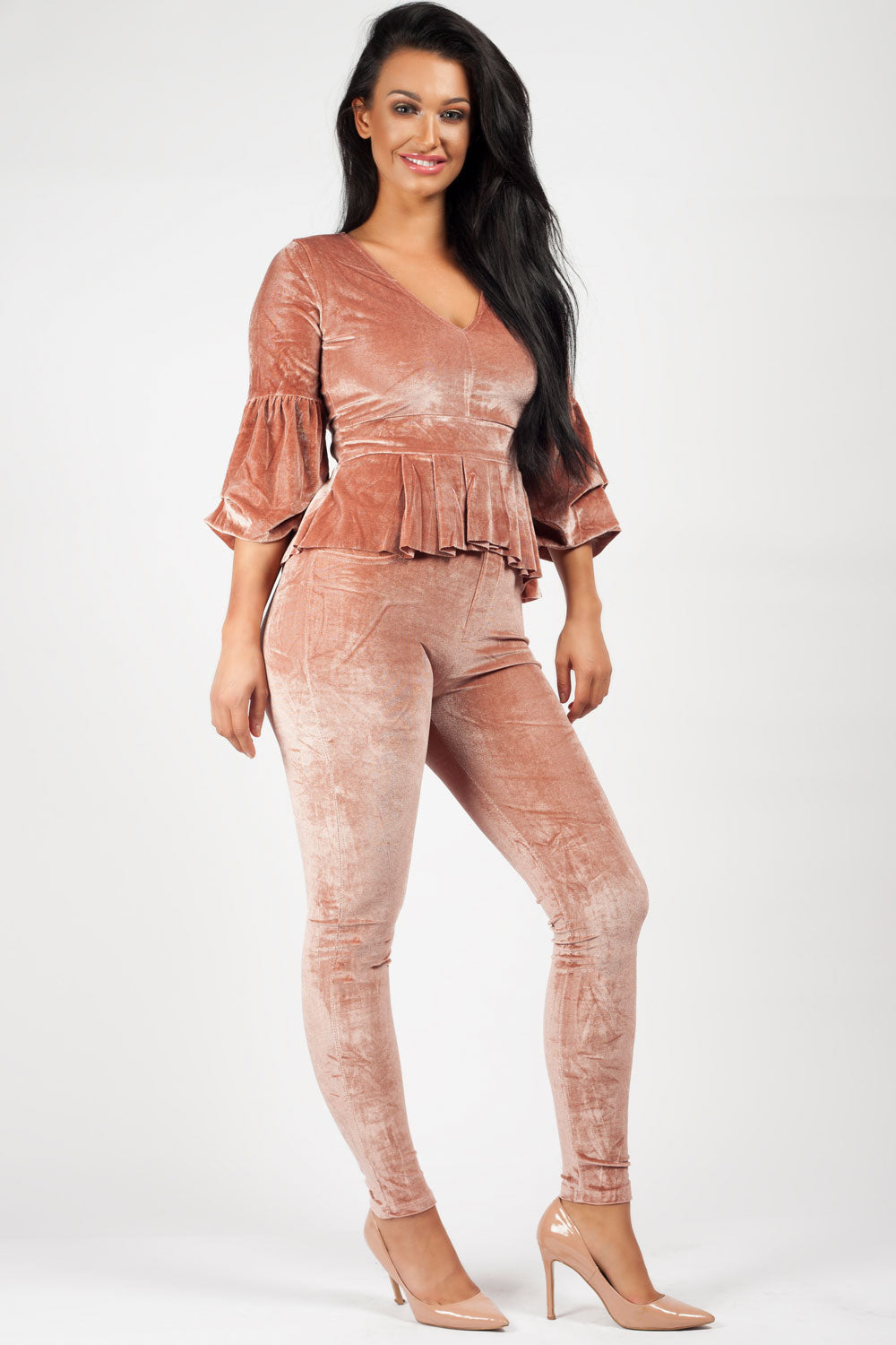 womens velour tracksuit pink