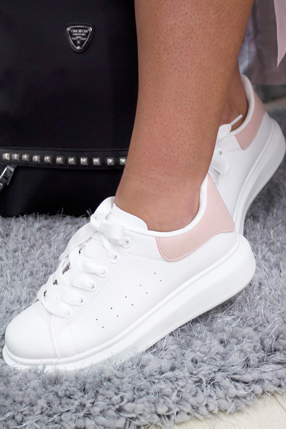 Pink Chunky Sole Platform Trainers