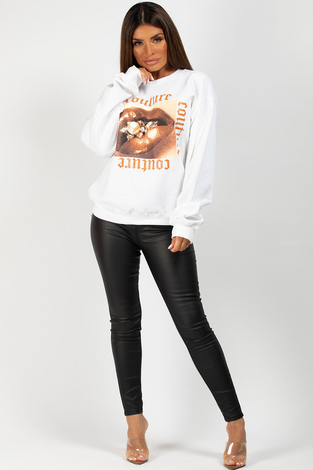 couture graphic sweatshirt