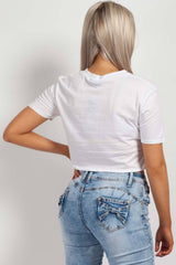 white cropped top summer