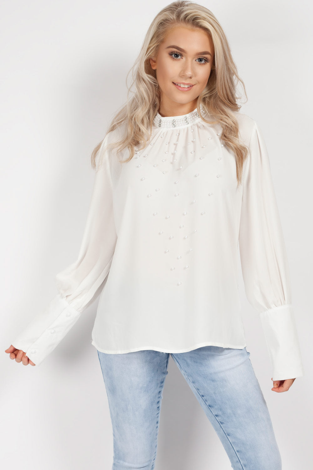 white diamante top womens