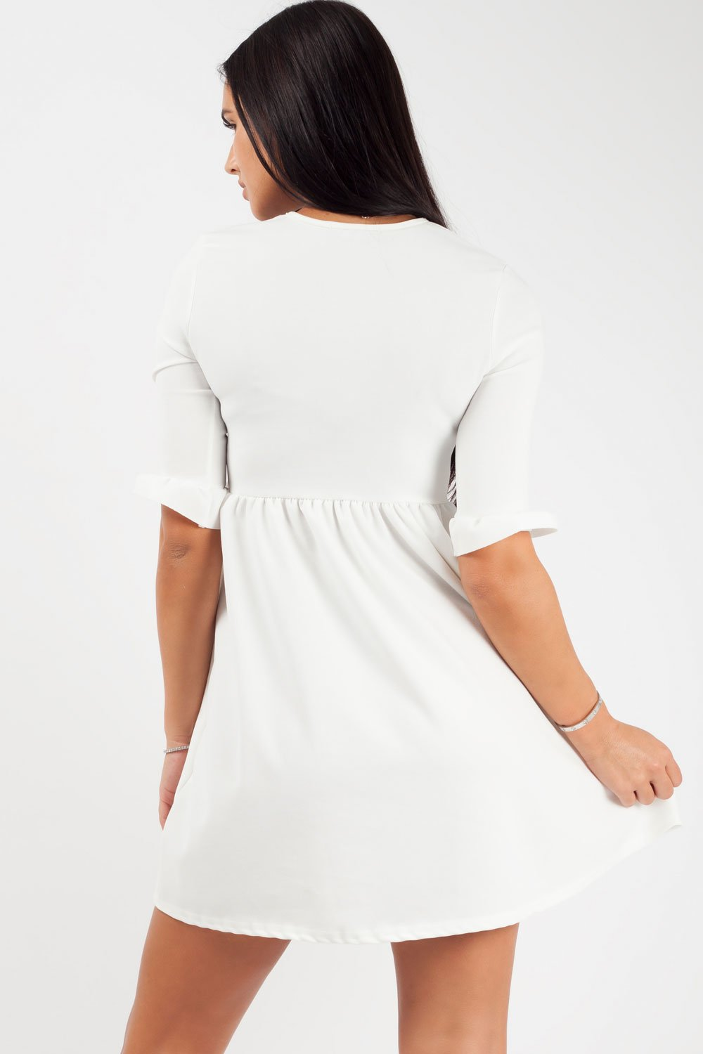 mini skater dress white