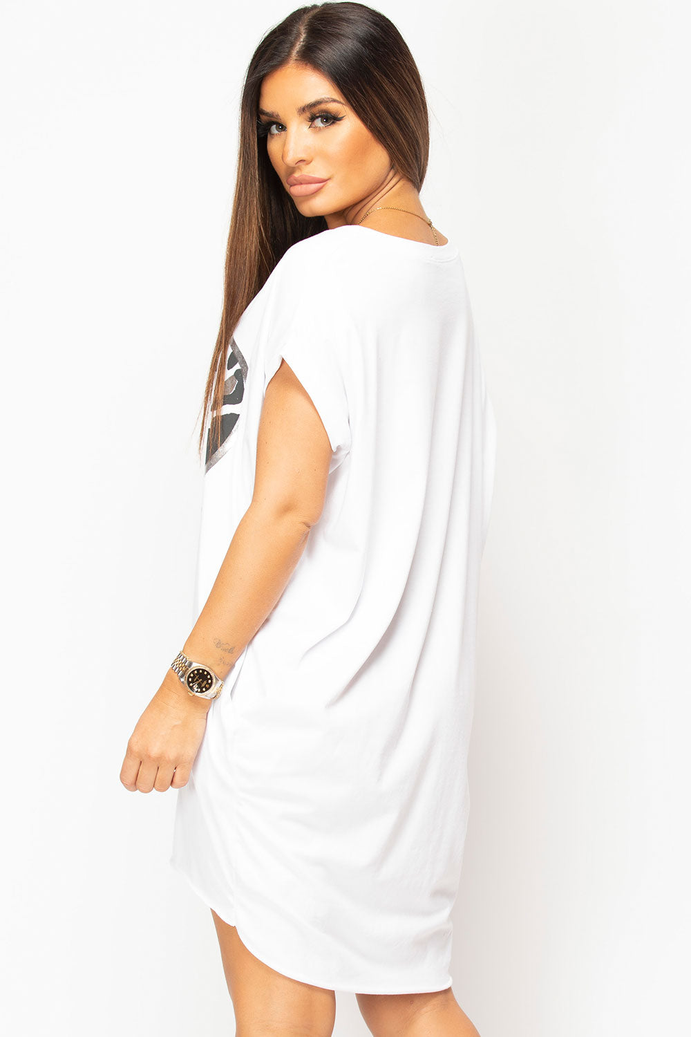 white oversized cotton top womens