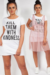 slogan t-shirt dress