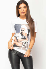 la mode graphic t shirt white