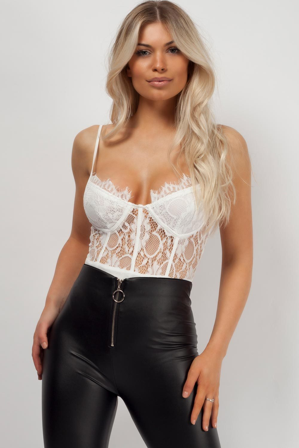 white lace bodysuit uk