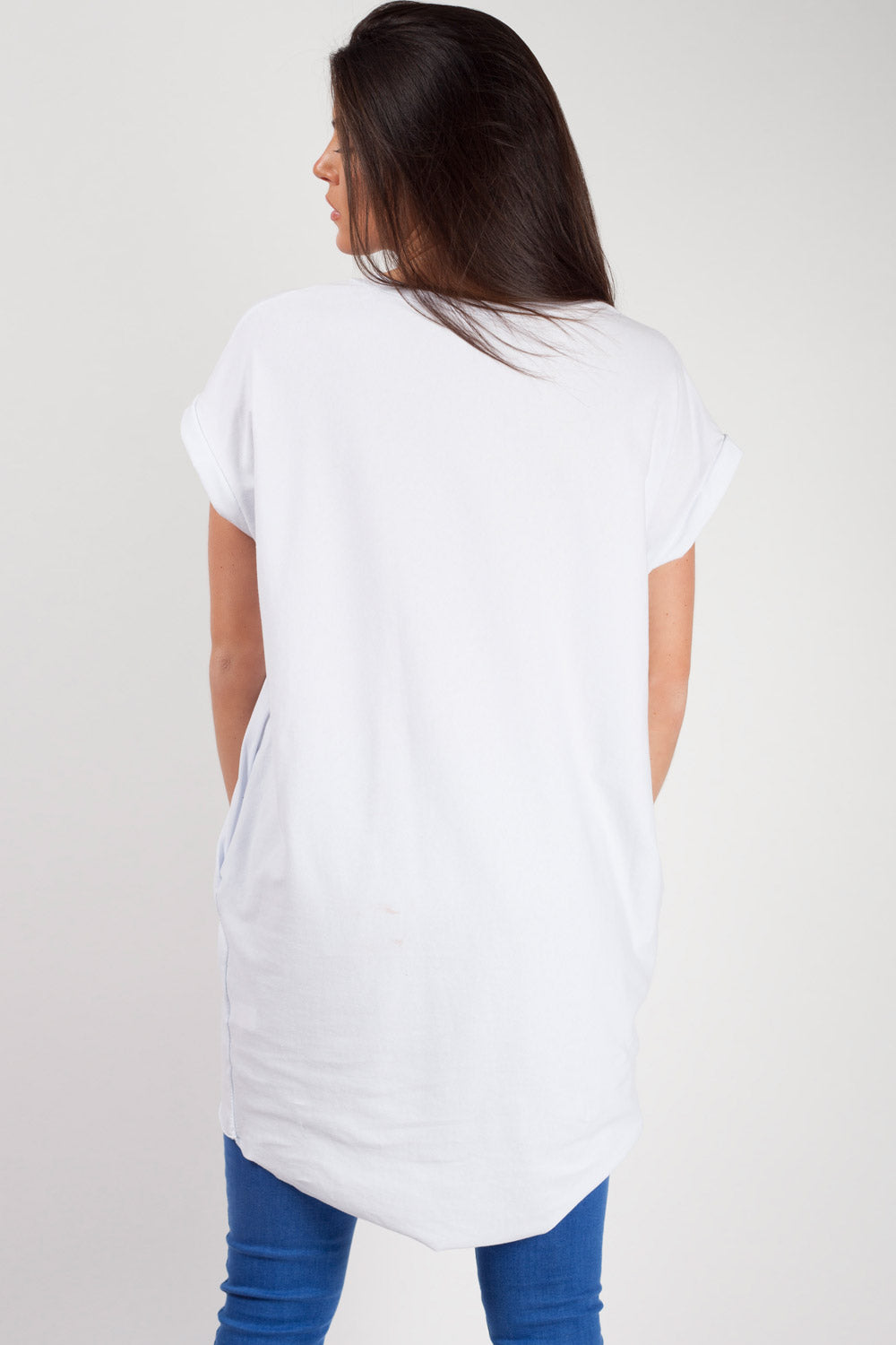 womens oversized top white