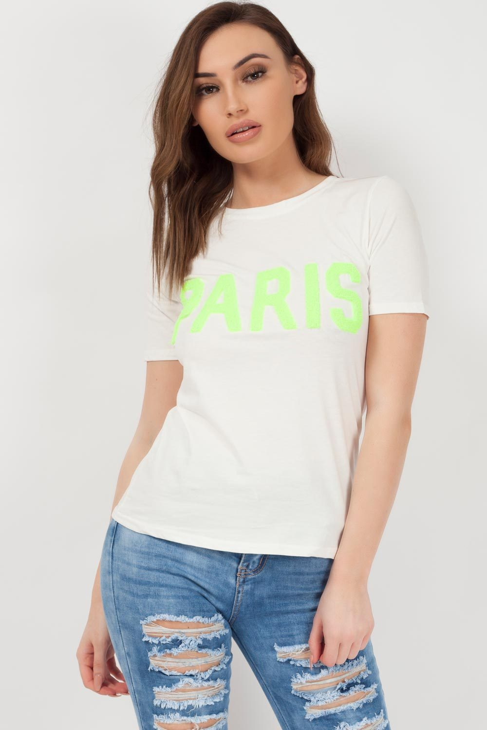 paris slogan t shirt