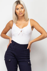 ribbed bodysuit white