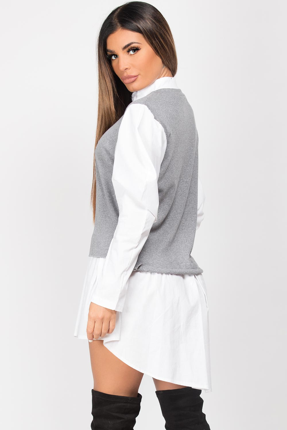grey shirt jumper womens