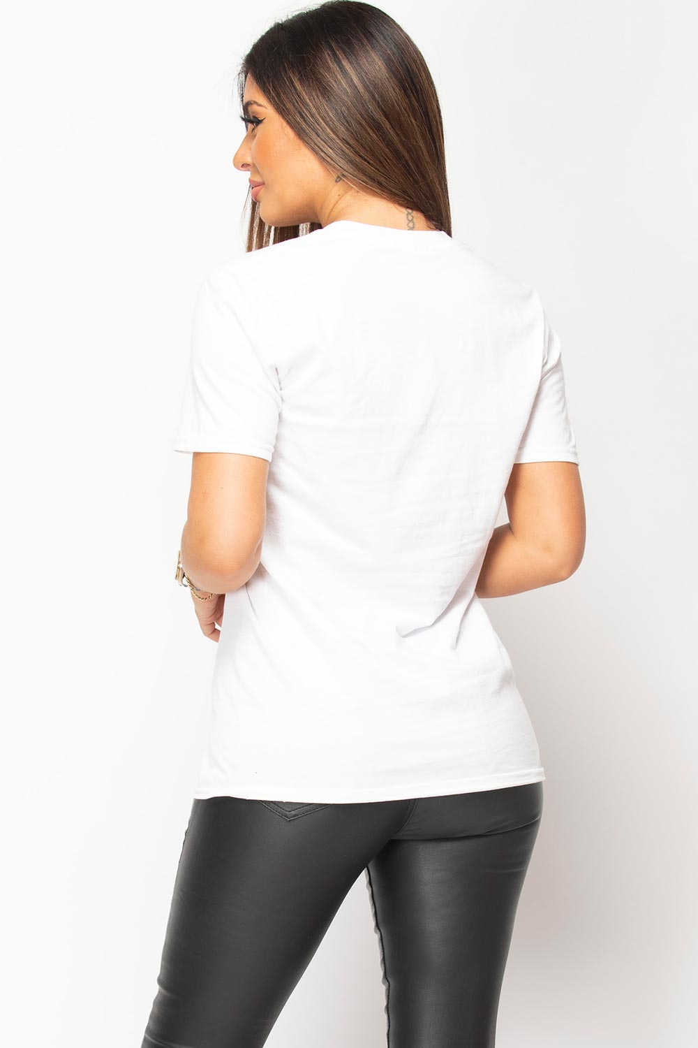 womens white oversized t shirt