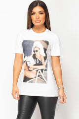 white casual t shirt womens