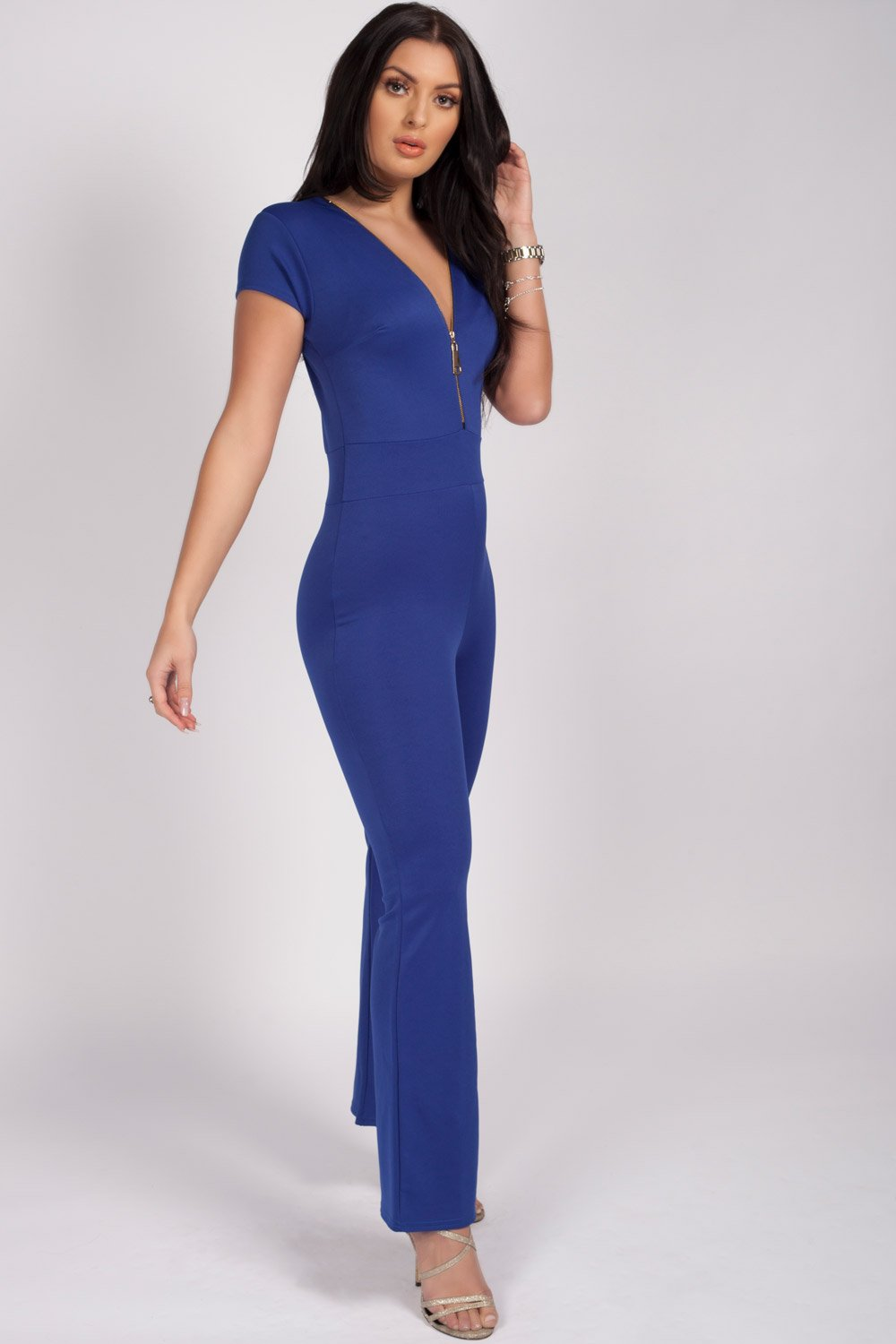 patite jumpsuit royal blue