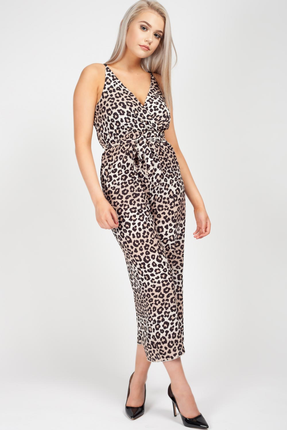 culotte jumpsuit animal print
