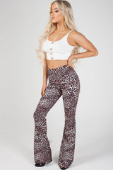 love island animal print trousers