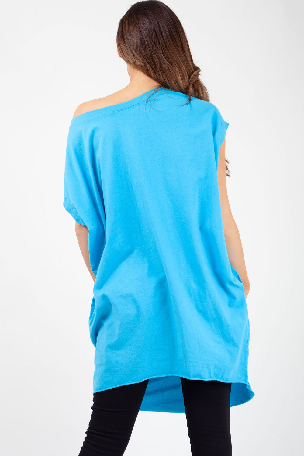 sky blue oversized t shirt styledup fashion
