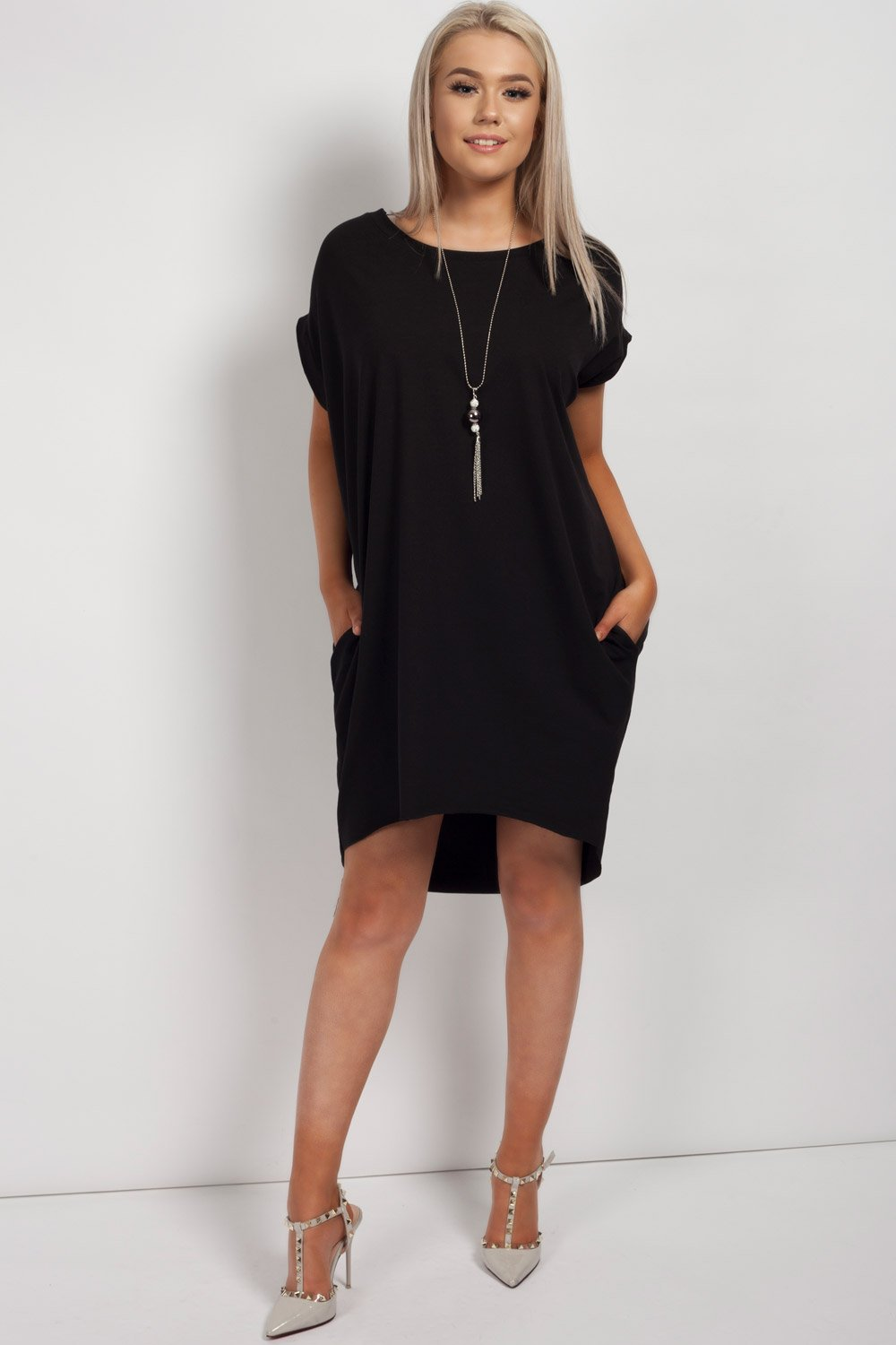 oversized black top womens