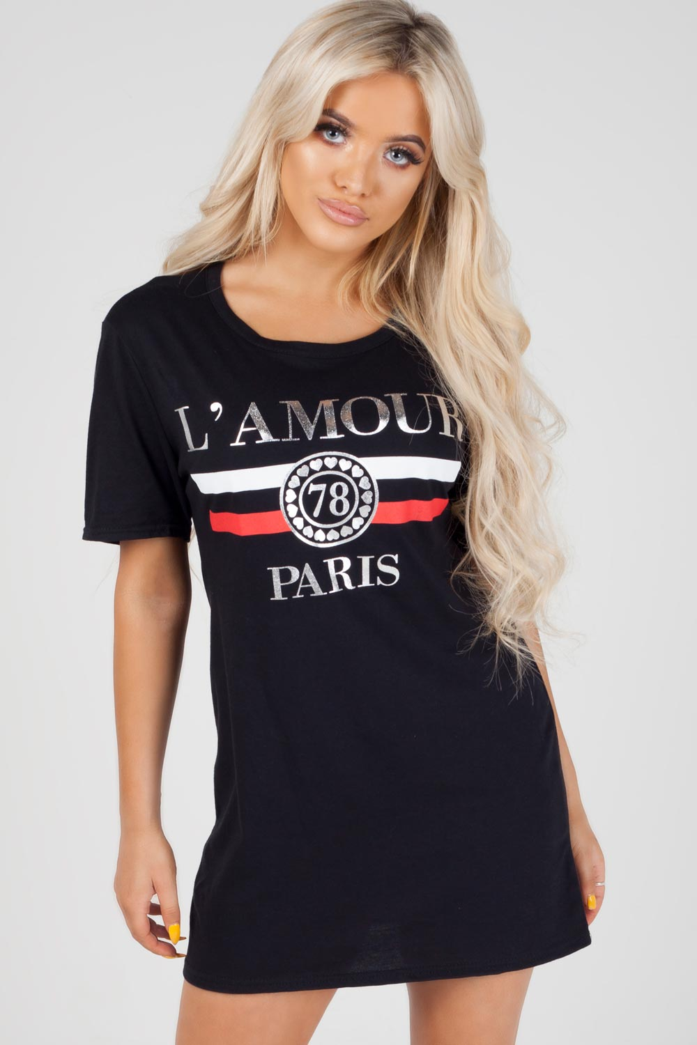 lamour paris slogan top black