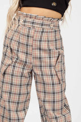 womens checkered trousers uk