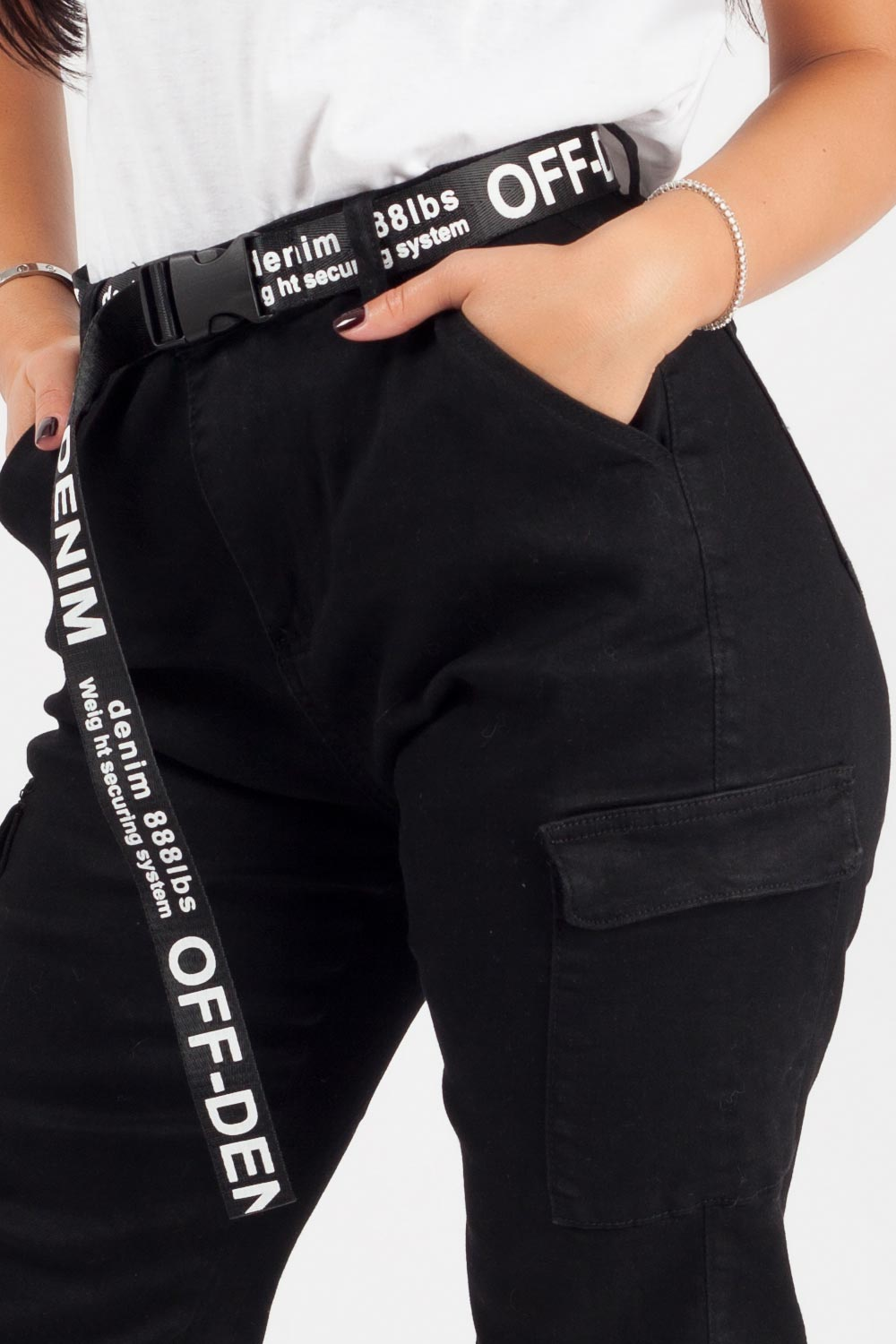 black cargo trousers womens