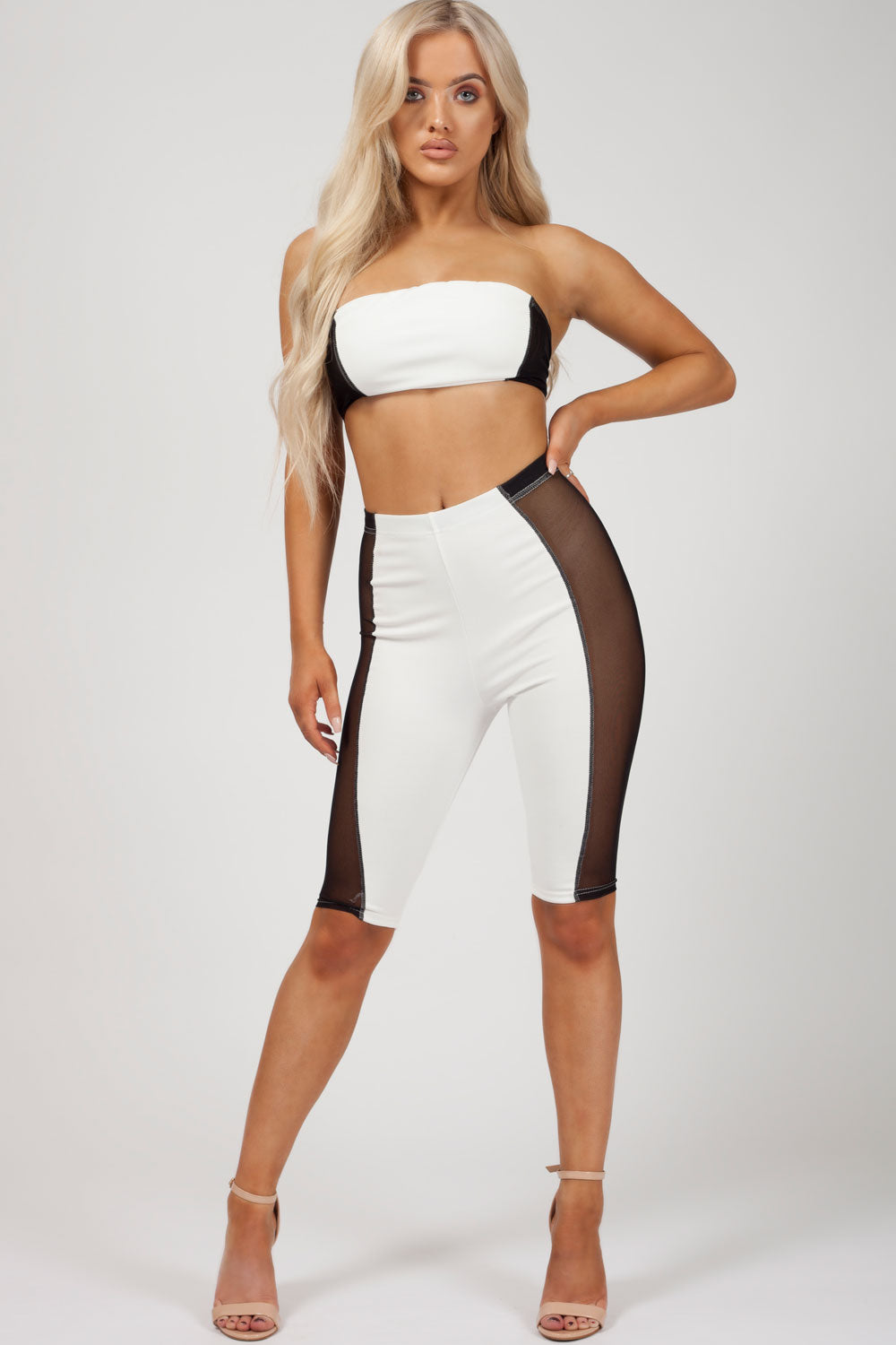 womens cycling shorts and crop top set uk styledup fashions