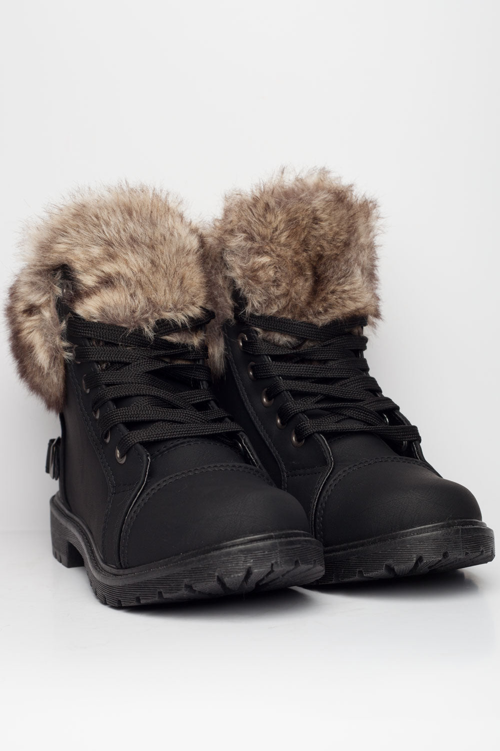 girls fur lined ankle boots winter