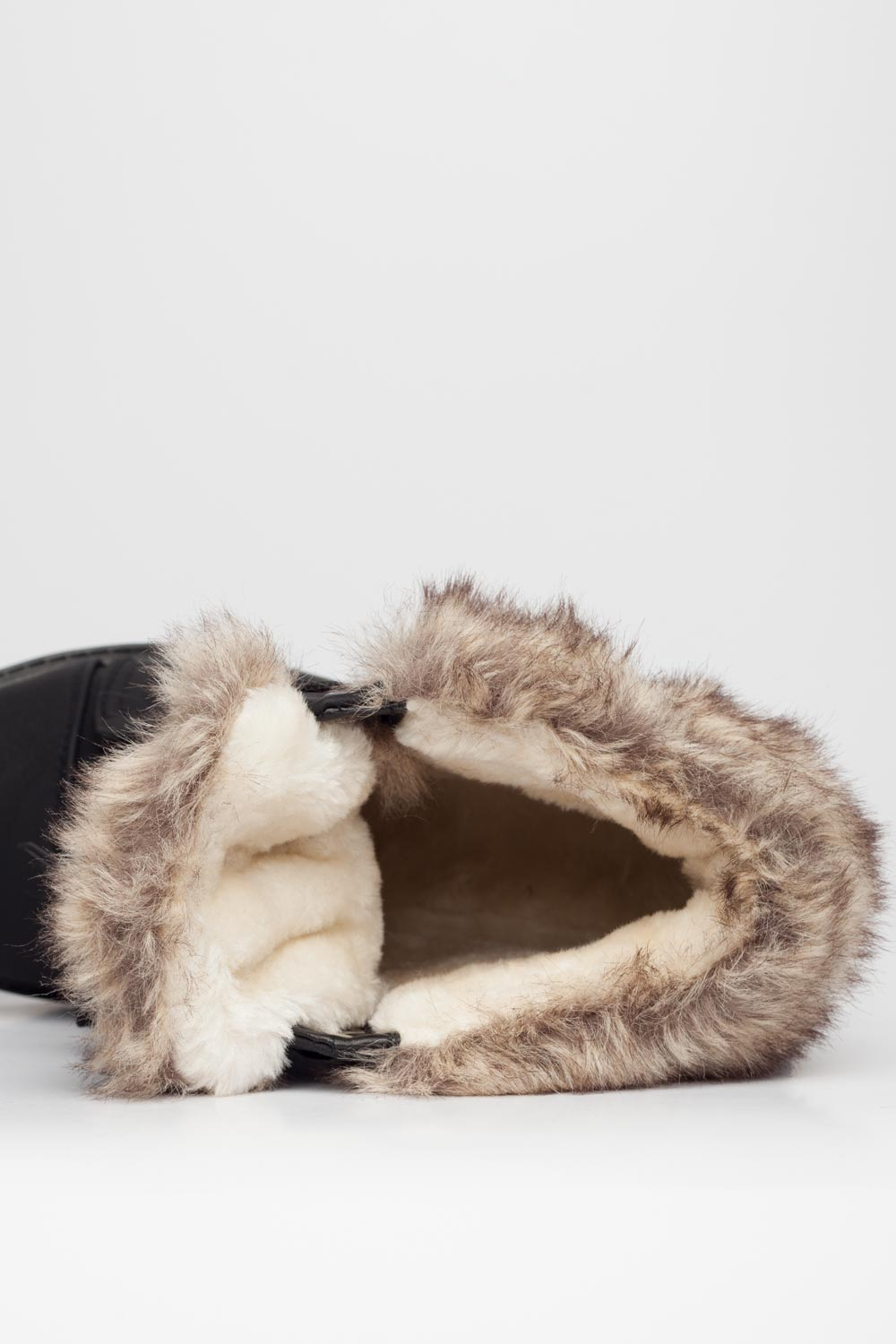 fur trim ankle boots womens