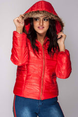 womens light jacket red