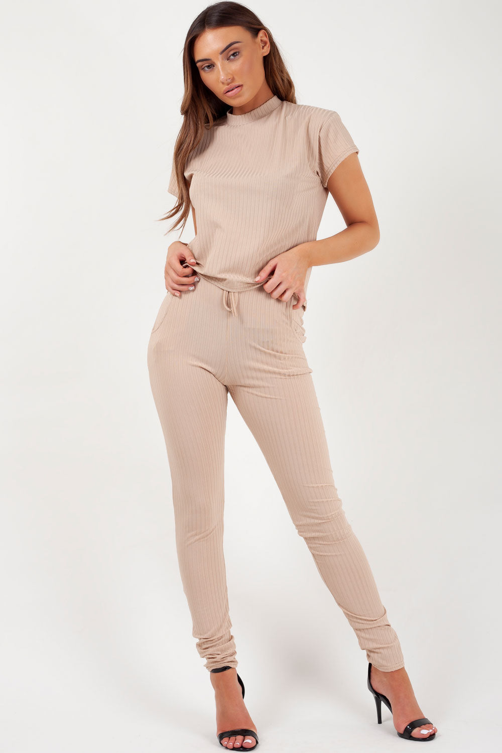 ribbed boxy lounge wear co ord