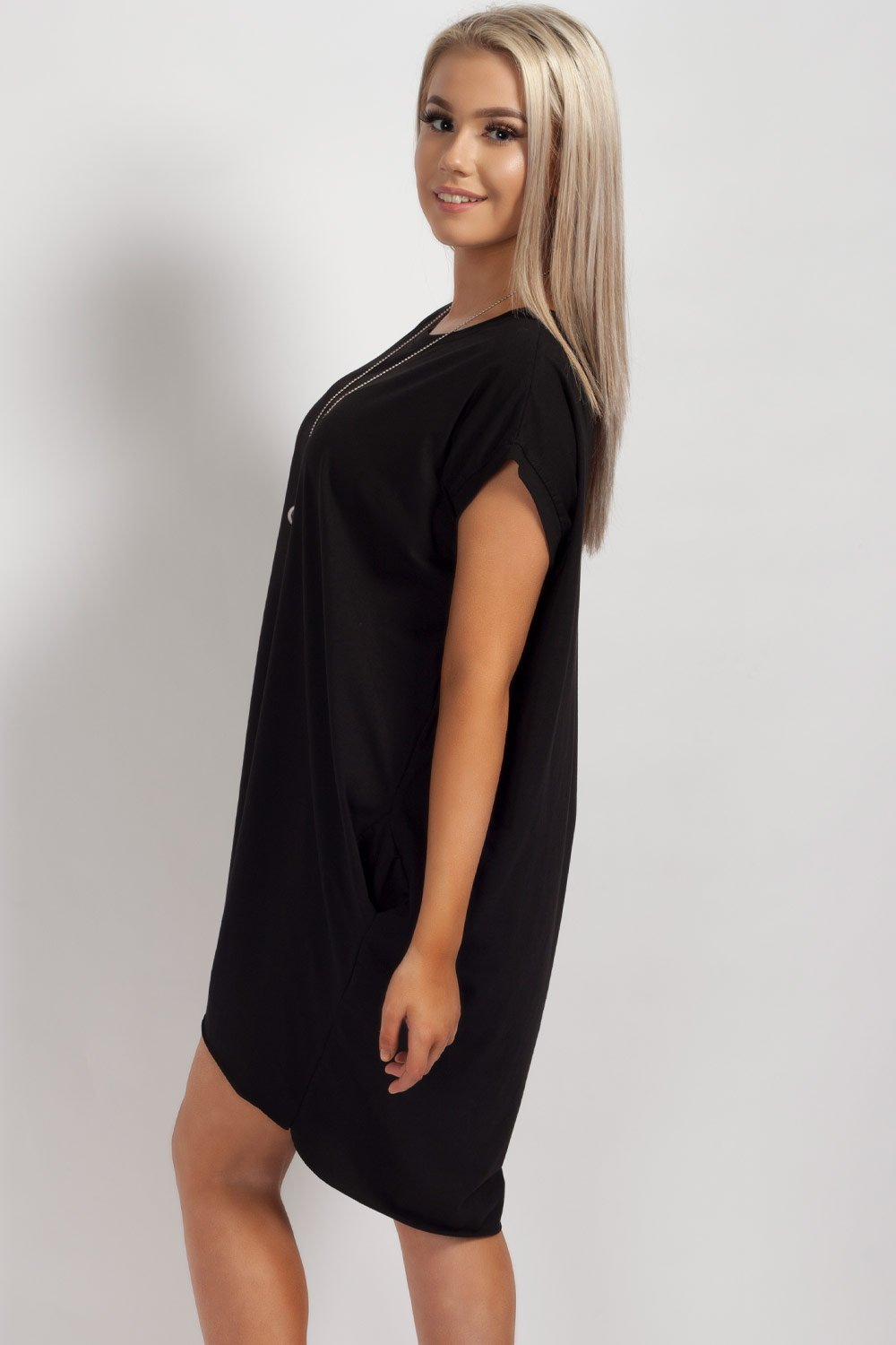 black oversized top uk