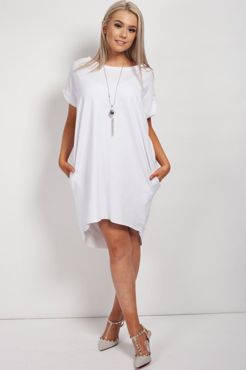 white oversized top womens