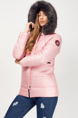pink womens winter coats